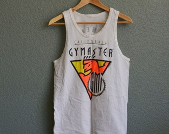 1990s MED GYMASTER muscle tank top