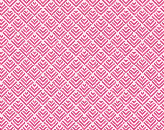 Pink Fabric / Fish Tail Print / Dress Fabric / Quilt Fabric / Riley Blake Fabric / C3624