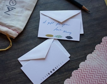 Add a personal note with your order, zenned out hand written note