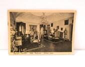 Villa Malacari Postcard Offagna Marche Post Card Salone Rossa Period Room Italian Similbrom Alterocca Ancona Italy 1920s Free US Ship