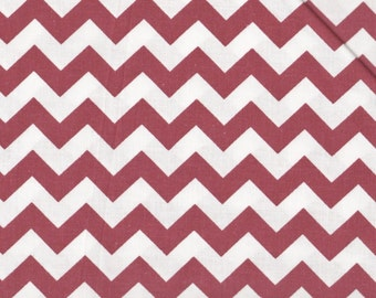 Small Chevron Fabric, Red and White Fabric,  Dark Red Fabric, Chevron Fabric, 1 yard fabric, 05089