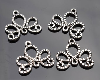 Silver jewelry Components - 8 pack