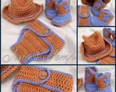 100% Cotton Crochet Cowboy Set