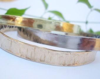 Personalized Medical ID Bracelet - NuGold - Brass - Stainless Steel - Sterling Silver - Handstamped - Secret Message  - Stack Bracelets