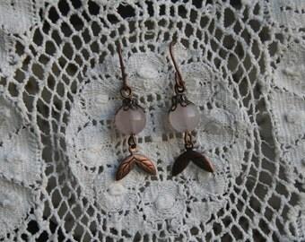 Pretty  antique copper  earrings