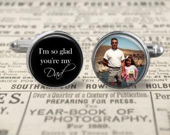Father Of The Bride Cufflinks,Dad Custom Photo Accessories, Wedding Cufflinks
