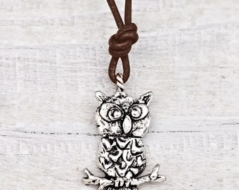 Be Wise Necklace - Owl Necklace - Inspirational Necklace - Word Jewelry - N616
