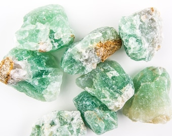 1000 Cts Natural Rough Green Fluorite Raw Material For Cabbing/Tumbling