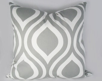 Ogee in grey - Decorative Pillow Cushion Covers - Accent Pillow - Throw Pillow - Indigo, Natural