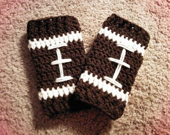 Baby Football Leg Warmers - Pick Favorite Team Colors - Christmas NFL Winter Football Fall Autumn Brown White