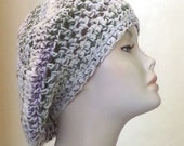 Crocheted Beret Hat - Boho - Over Sized Beret Hat - Slouch Hat - FREE UK DELIVERY