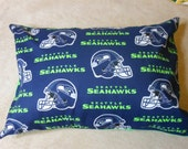 Seahawks All Cotton 12 x 16 inch Pillow Cover to go with 12 x 16 Machine Washable Polyester Pillow insert. Choose with or without pillow