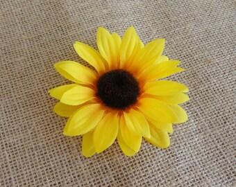 4 inch Women's Sunflower Hair Clip....Teen Girl Hair Clip...Girl Hair Clip