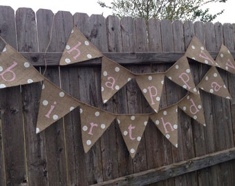 RUSTIC BIRTHDAY BANNER, Ballerina Party Decorations, Ballerina Party Supplies, Happy Birthday Sign, Birthday Supplies, Birthday Decor