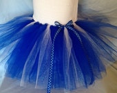 FREE SHIPPING NFL Indianapolis Colts Inspired Tutu Cheer Skirt Blue and White
