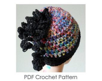 Slouch Beanie Pattern - Slouch Hat Pattern - Crochet Slouch Hat - Crochet Slouch Pattern - PDF Slouch Pattern - Crochet Hat Pattern