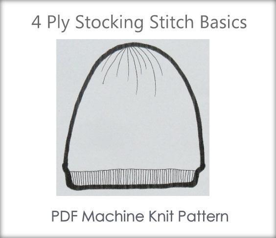 Machine Knitting Patterns Free Download : Very Easy Beanie Easy Hat Pattern Machine Knit Pattern