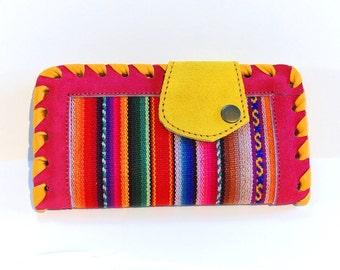 Handmade Women's Genuine Multicolored Suede Leather Wallet