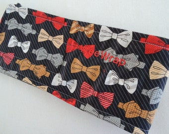 Dog Diaper Belly Band, Red Bow Tie Fabric, End Marking, Male Dog, Personalized, Fast Shipping