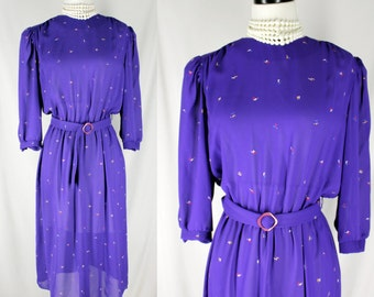 Vintage Dress Purple Alison Peters Confetti