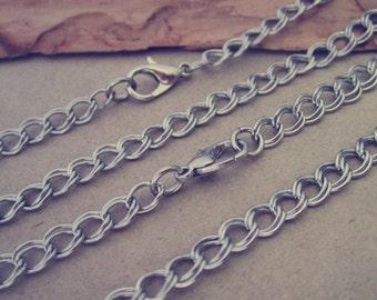 100pcs 65cm White K color pendant chain 4mmx5mm