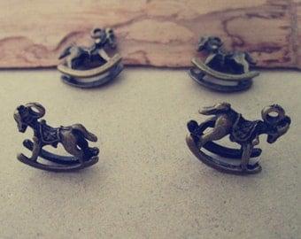 20pcs antique bronze horse Charms 13mmx15mm