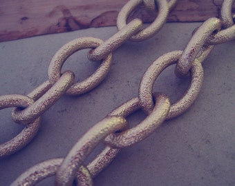 1m (3.2feet) 20mmx27mm gold color  Aluminum chains