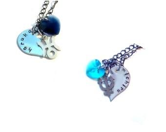 Haruka & Michiru Best Friends/Lovers Necklaces
