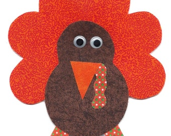 Turkey ornament / door hanger handmade fabric