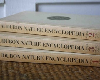 Audubon nature encyclopedias, set of three