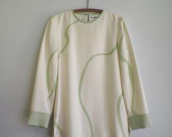 Vintage silk tunic size large