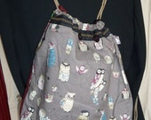 Owls on backpack style bag
