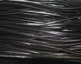 12 Long Rooster Saddle Hackles - Black (8 - 10 inches) Hair Extension Feathers