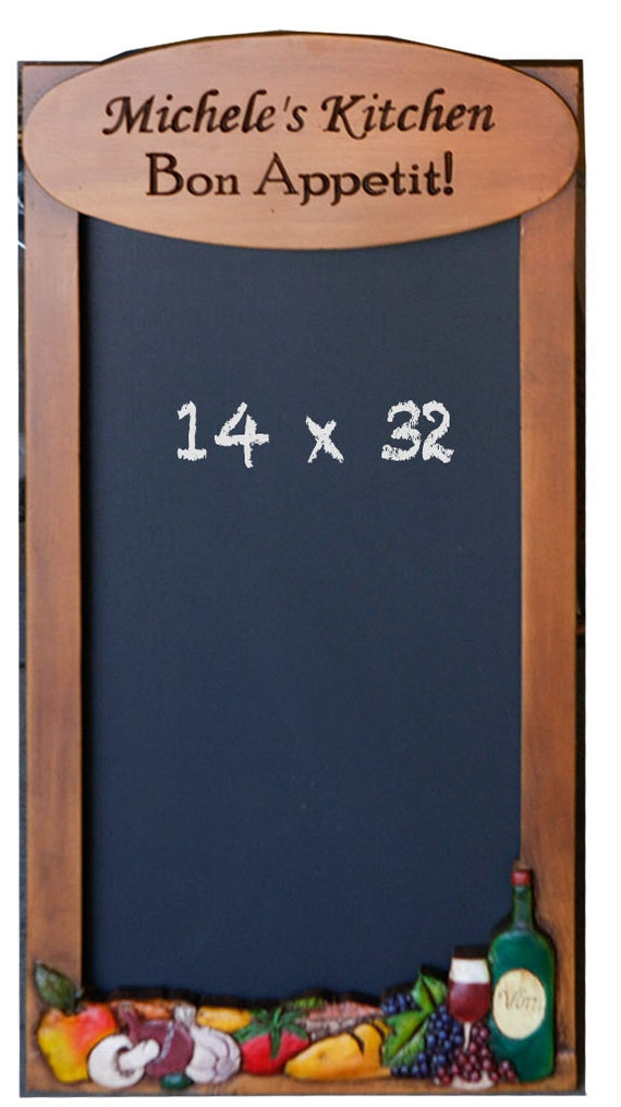 Kitchen Decorative Chalkboard Personalized With Your Name Or