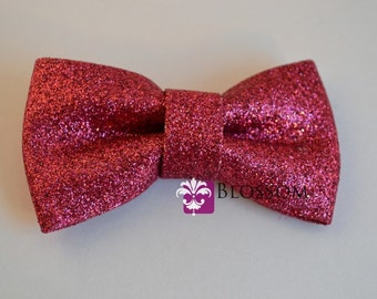 BRIGHT PINK - The Eva Collection - Glitter Bows - DIY Bow Headband - Holiday Wedding Bridal Bows Sparkle Shimmery Blossom Supplies Wholesale