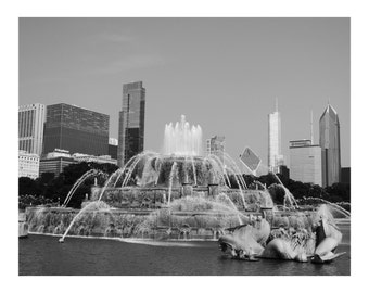 Chicago Buckingham Fountain  Photo Print