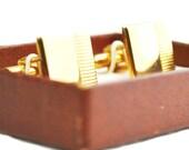 Vintage Gold Cufflinks - Swank