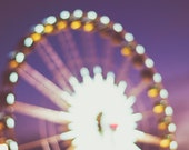 Fine Art Photography - Carnival Photography Abstract art decor vintage retro fair bokeh lights ferris wheel photo print wall art
