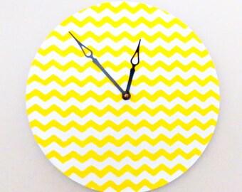 Baby Nursery Wall Clock, Chevron Wall Clock, Home Decor, Decor and Housewares,  Home and Living