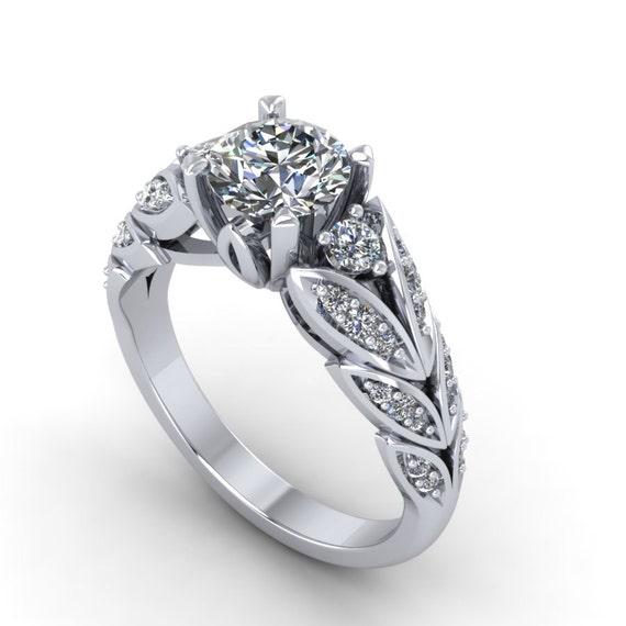 forever brilliant moissanite and diamonds engagement ring