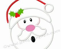 Christmas Embroidery Applique Designs -Santa Claus - Santa Face Embroidery Applique Designs - 4x4, 5x7, 6x10 hoop sizes Instant Download
