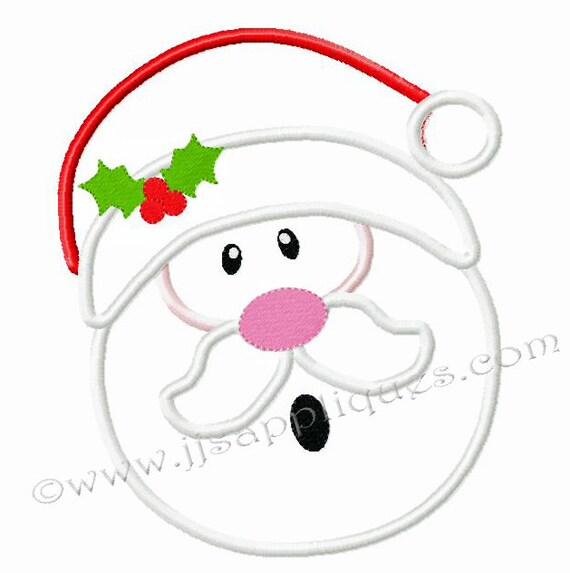 Christmas embroidery applique designs santa claus