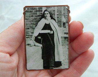 Saint Jewelry Saint Necklace Saint Therese Patron Saint of People With AIDS