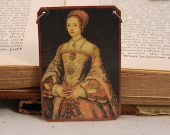 Queen necklace Queen jewelry Catherine Parr mixed media jewelry