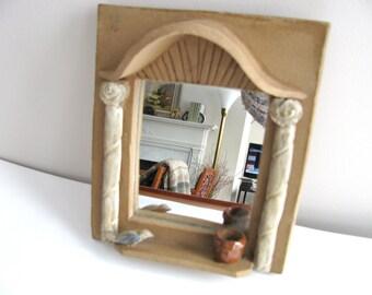 Ceramic fantasy hanging mirror