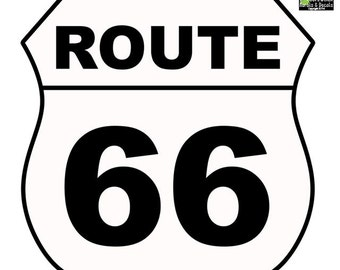 Route 66 Street Sign Wall Decal