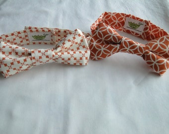 Orange Infant/Newborn/Toddler Bow Tie & Suspenders- Great Photo Prop, Cute for Weddings, Cake Smashing