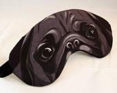 Black Pug Sleep Mask