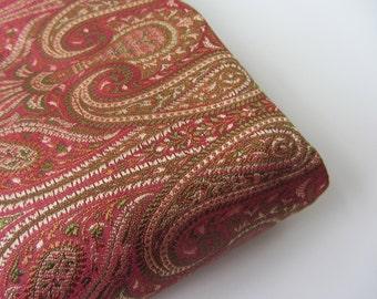 Old pink green jamevar silk from Varanasi India silk brocade fabric nr 251 fat quarter