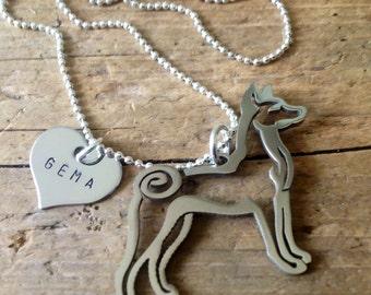 Basenji custom Necklace Jewelry Personalized Handmade Pendant Dog